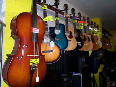 Cello and acoustic guitars